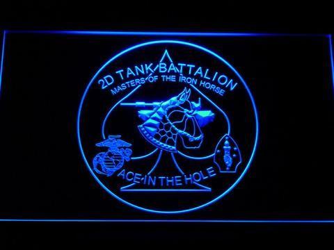 US Marine Corps 2nd Tank Battalion LED Neon Sign www.shacksign.com