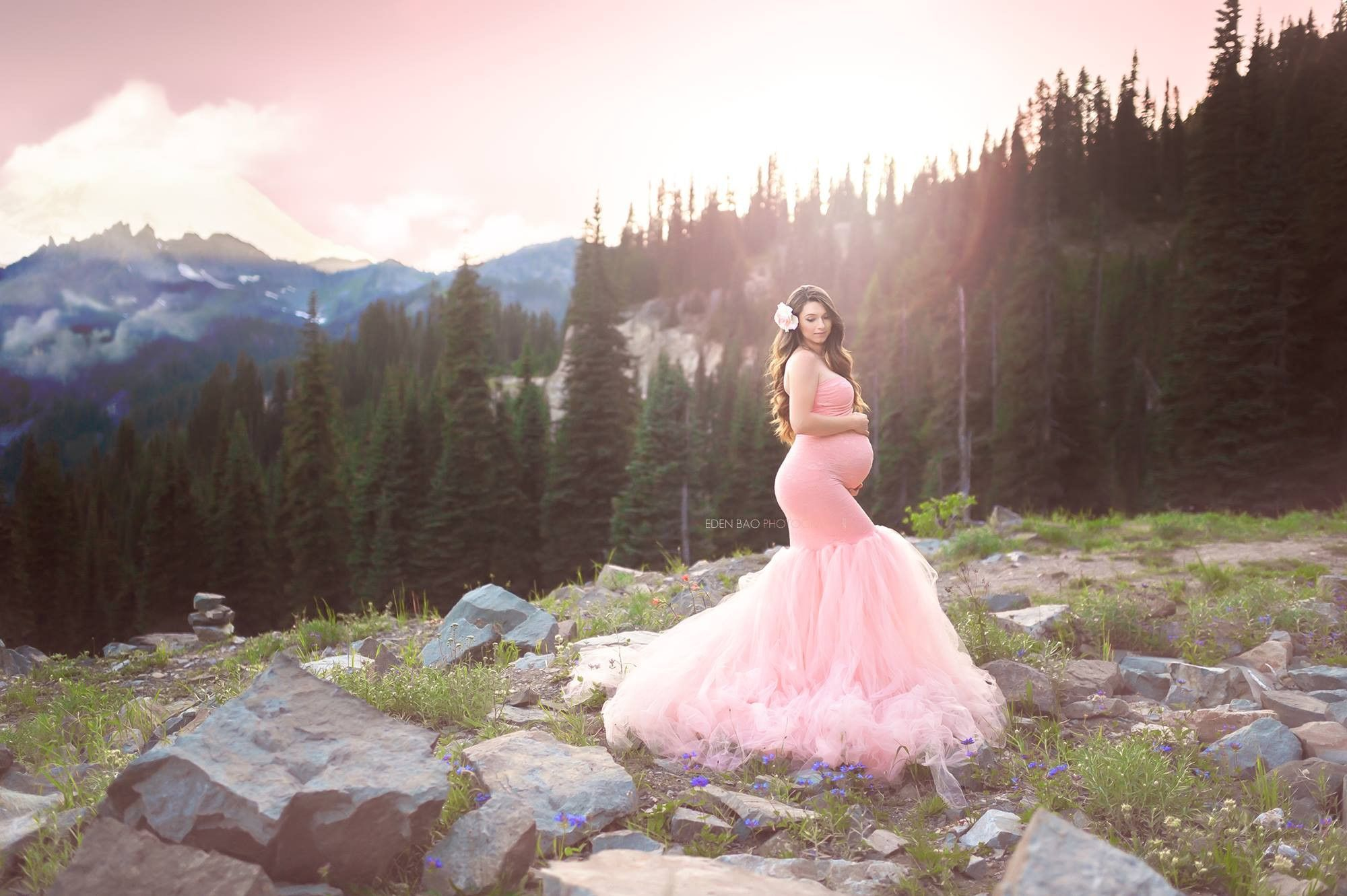 c7b2a3606fe Celine Gown • Sweetheart Lace and Tulle Pregnancy Dress • Fitted Mermaid  Style Maternity Gown • by Sew Trendy