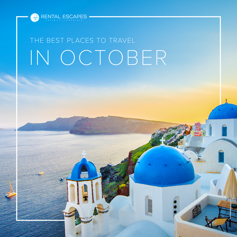 October Is The Best Time To Travel Make The Most Of The Autumn Weather And Sunshine With A Luxury Trip To One Of Best Places To Travel Travel Places To Travel