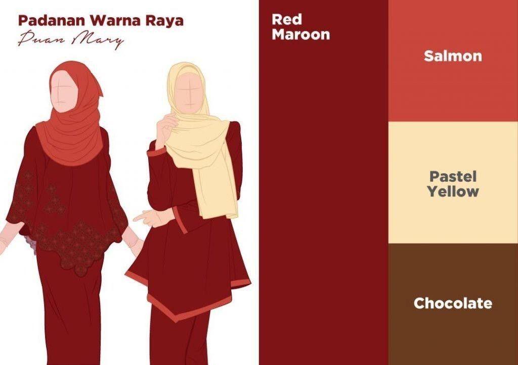 Warna Baju Maroon