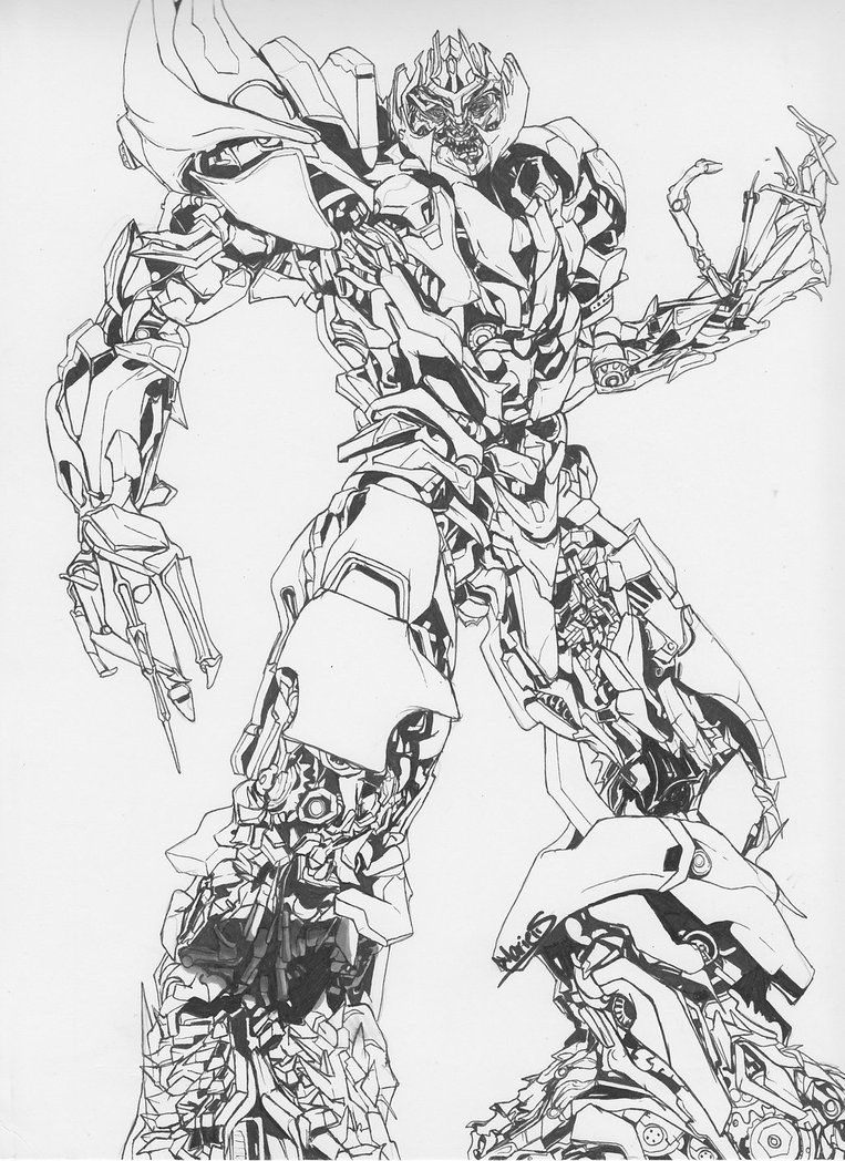Megatron Coloring Pages Free Large Images Transformers Coloring Pages Coloring Pages Transformers Drawing
