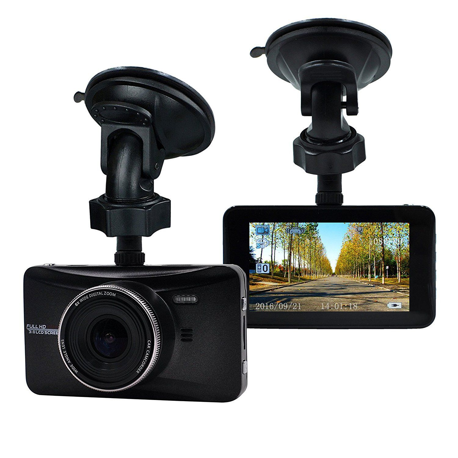 "Oldshark Dash Cam 3/"" 1080P Hd Car Recorder 170 Wide Angle Night Vison Dashboard"