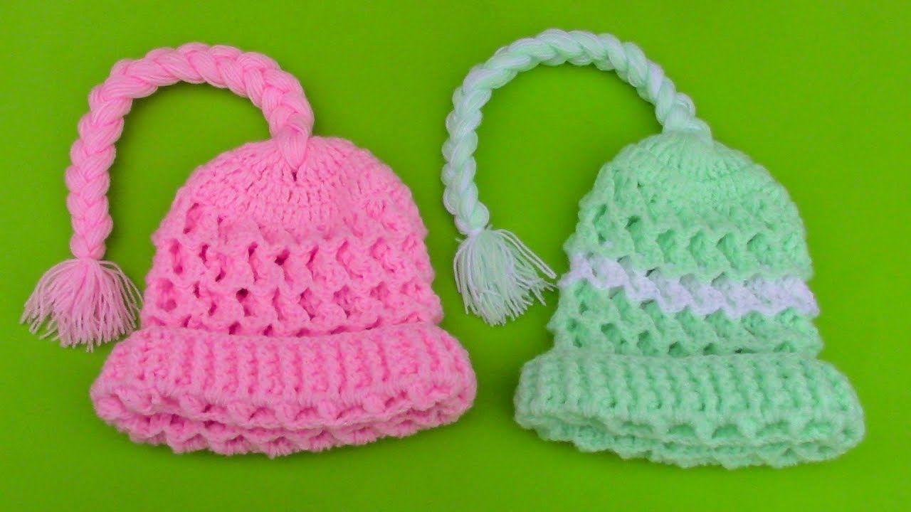 2d6d07a88 Gorra para niña de 2 años tejido a crochet paso a paso