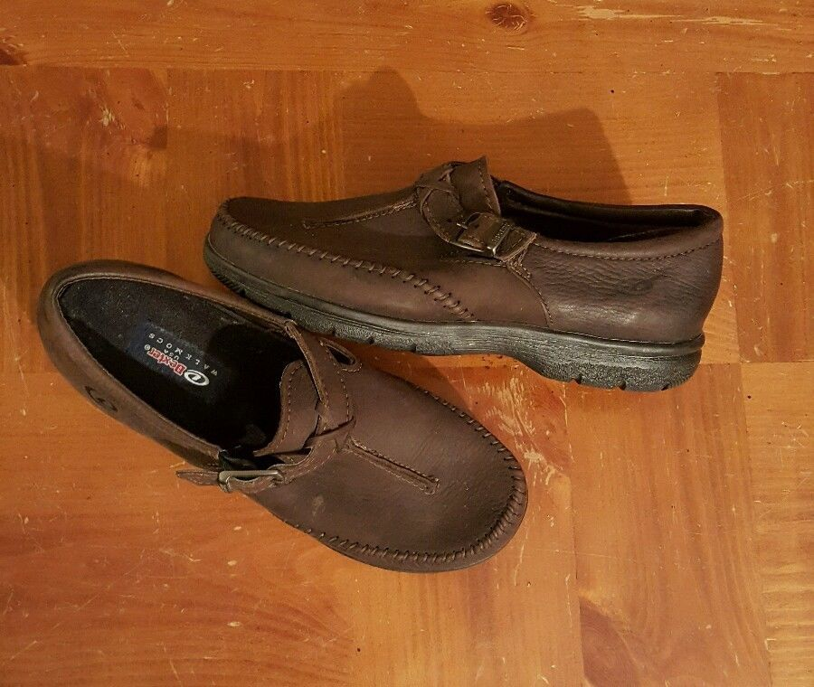 Brown leather shoes, Womens flats