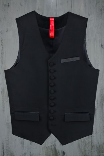 Plush Button Vest