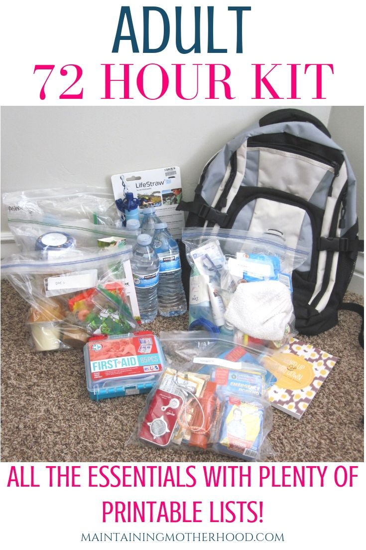 Pin on Bug out bags