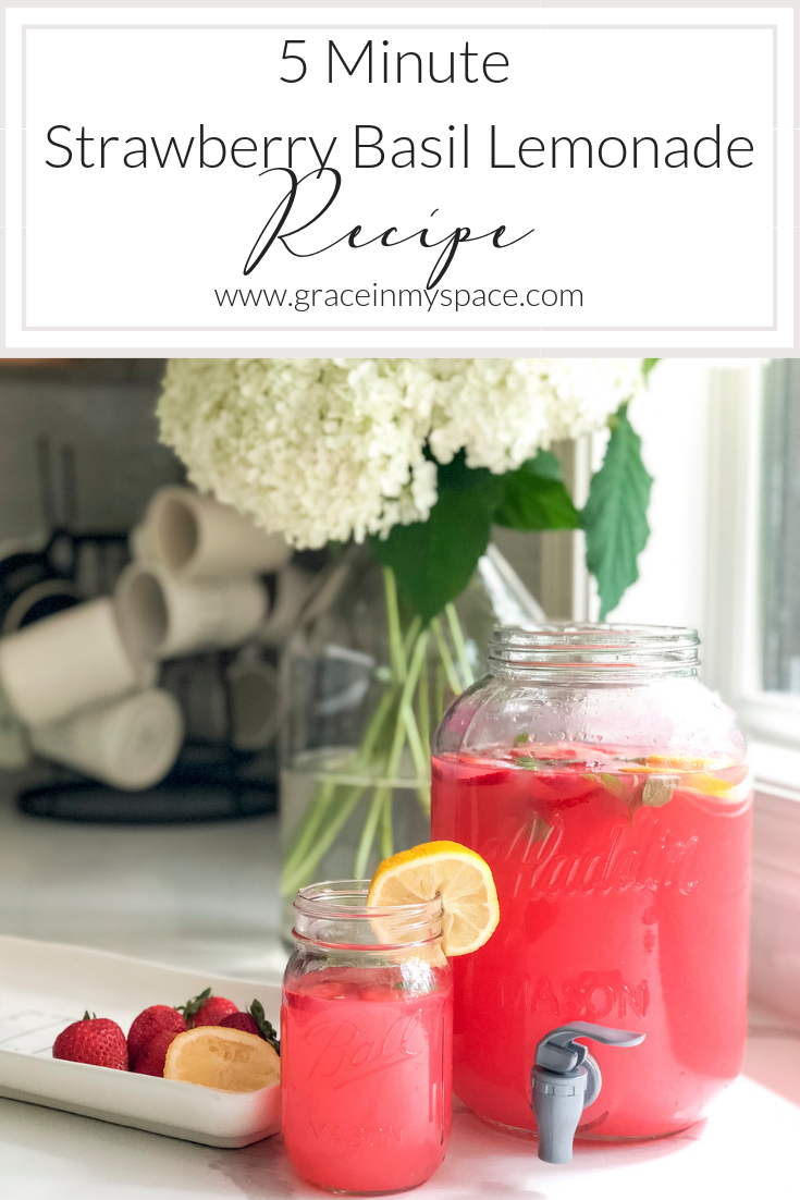 Strawberry Basil Lemonade #basillemonade Are you looking for an extremely simple, yet refreshing, beverage for your next party? Whip up this strawberry basil lemonade in minutes! Full recipe here. #fromhousetohaven #drinkrecipe #strawberrylemonade #basillemonade Strawberry Basil Lemonade #basillemonade Are you looking for an extremely simple, yet refreshing, beverage for your next party? Whip up this strawberry basil lemonade in minutes! Full recipe here. #fromhousetohaven #drinkrecipe #strawber #basillemonade