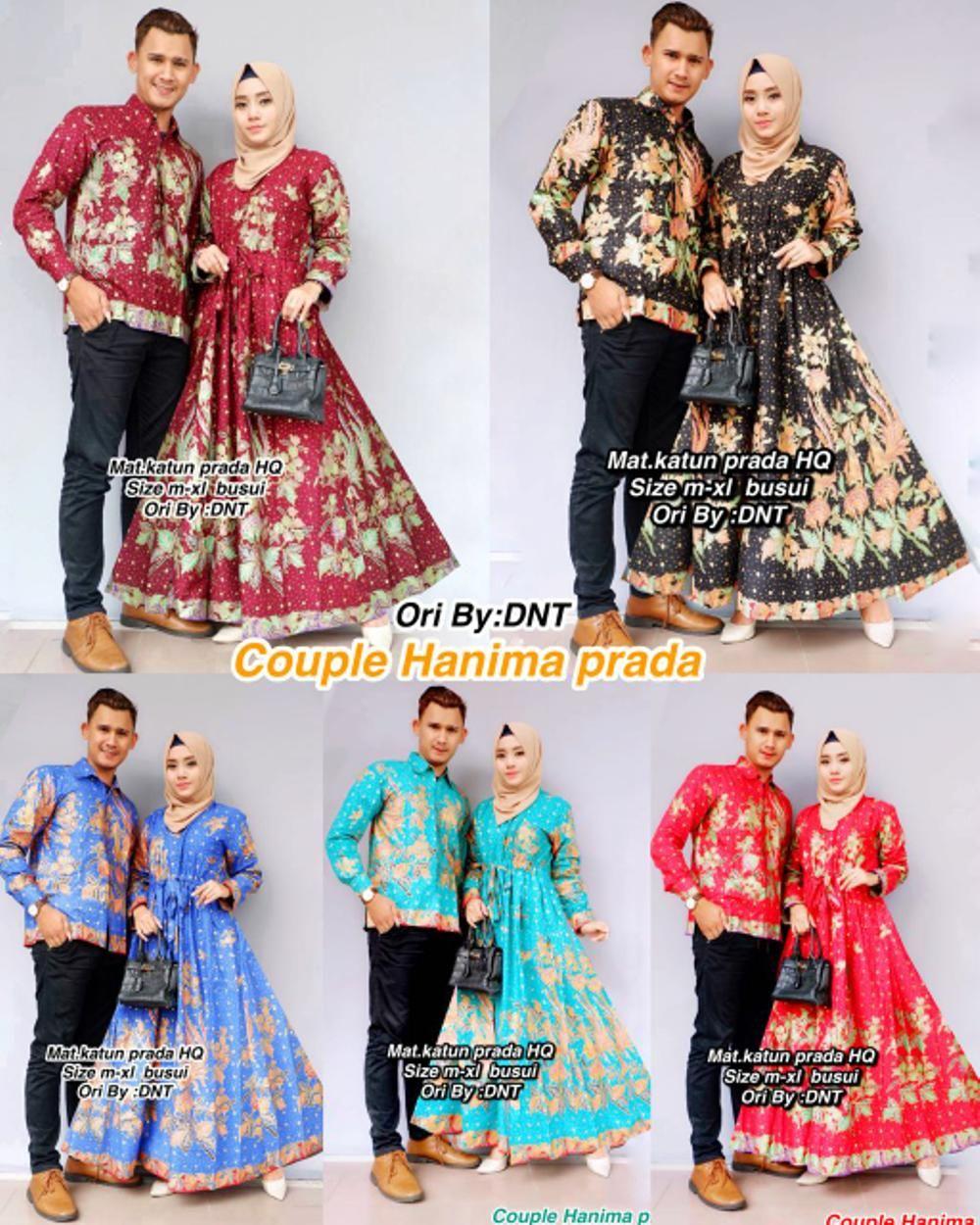 Setelan Model Baju Batik Couple Semi Sutra Hanima terbaru  Model
