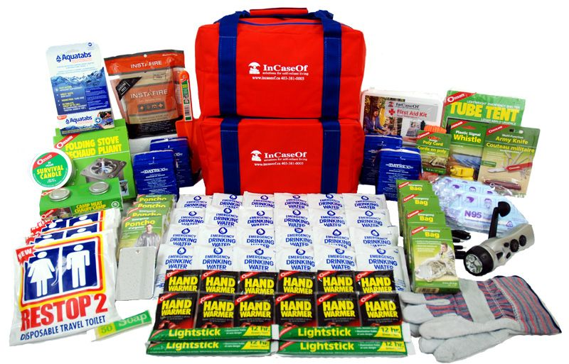 Safeguard deluxe four person 72 hour emergency kit 72