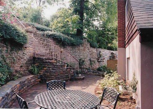 Patio Wall Ideas Paver Patio With Firepit And All Around Sitting Wall  Architectural Landscape Design Little