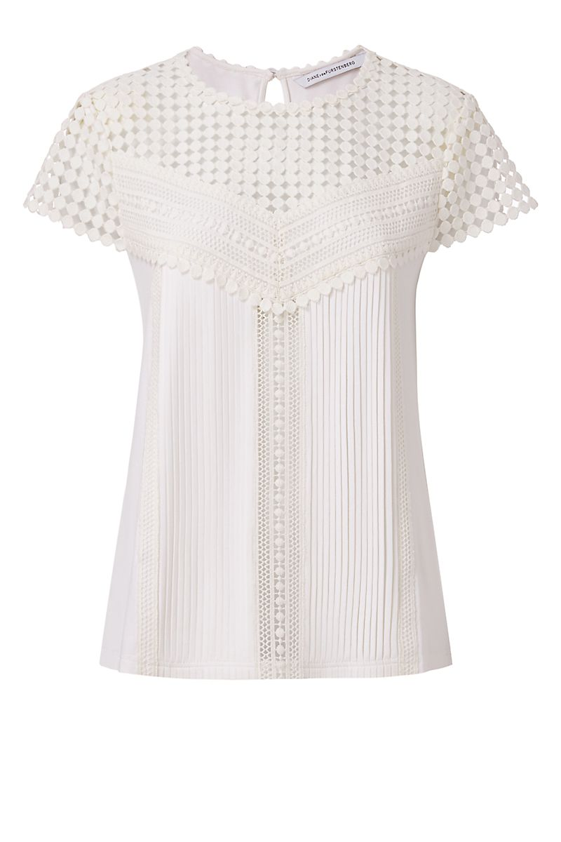 DVF Lauryn Lace Top   Landing Pages by DVF