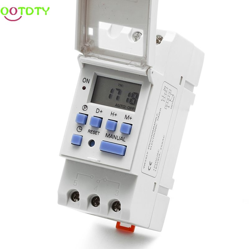 New Din Rail Time Relay Switch Digital Lcd Power Programmable Timer Dc 12v 828 Promotion Affiliate Timer Cool Things To Buy Relay