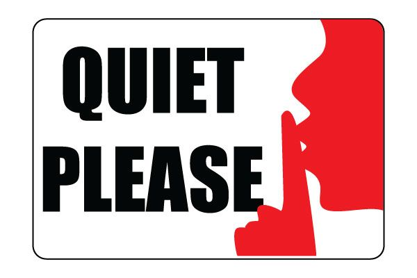 Terrible image with regard to printable quiet signs
