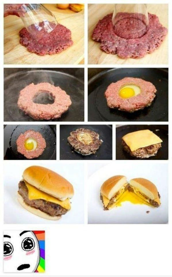 This awesome egg sandwich with venison!!! Yum!