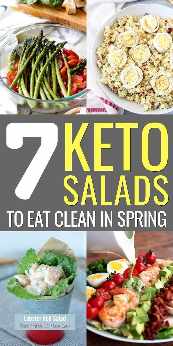 7 Keto Salads To Eat Clean In Spring #health #fitness #nutrition #keto #salads #diet #BestLowCarbRec...