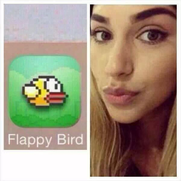 No wonder why FLAPPY BIRD is being removed in APPLICATION STORES. It's because of Chantel.