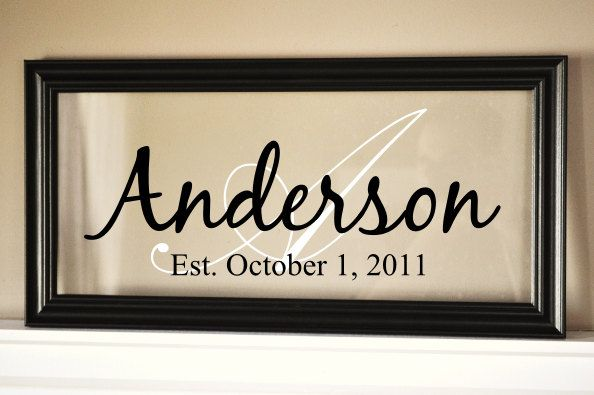 personalized family name sign picture frame 9x19 - Name Picture Frames
