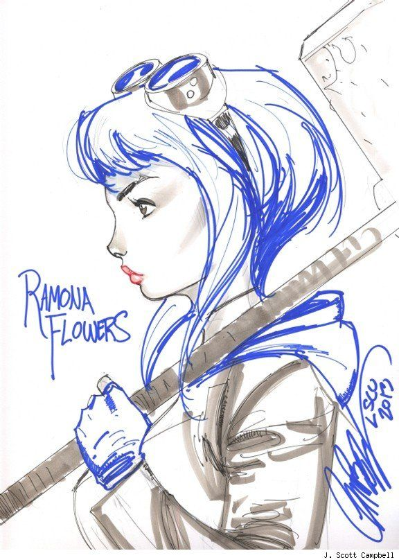 Ramona Flowers By J Scott Campbell From The Collection Of Joseph