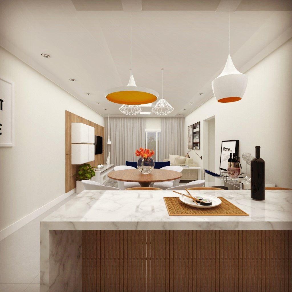 #BC420D  sala de jantar sala de estar lareira iluminação vray móveis de 1024x1024 píxeis em Decoração Interiores Sala Jantar