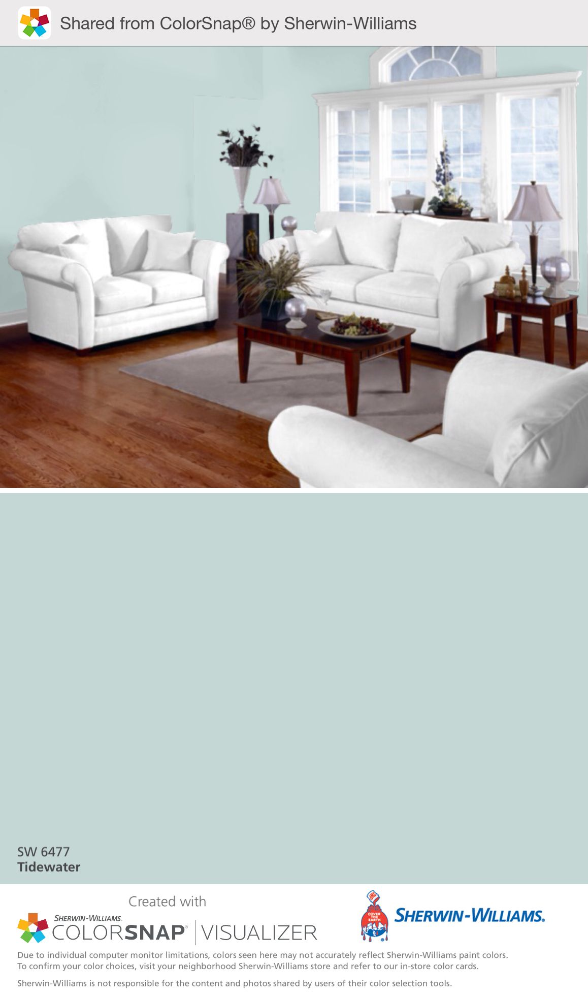 Tidewater, Sherwin Williams Guest room decor, House colors