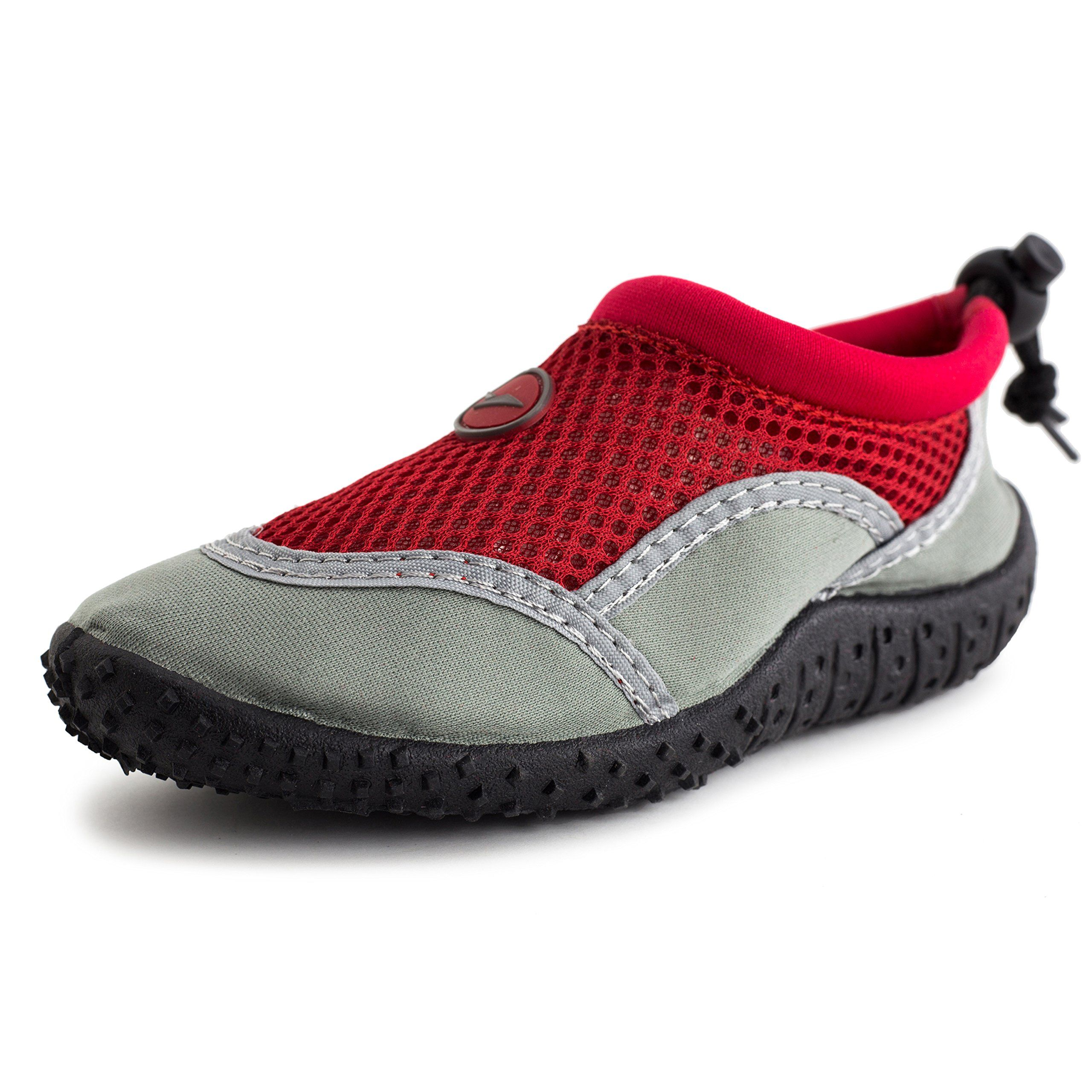S.C.I.I Boys Girls Aqua Water Shoes Red 3 M US Little Kid. Medium ...