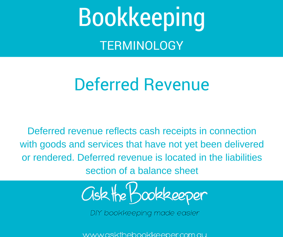 Deferred Revenue Bookkeeping Terminology ATB