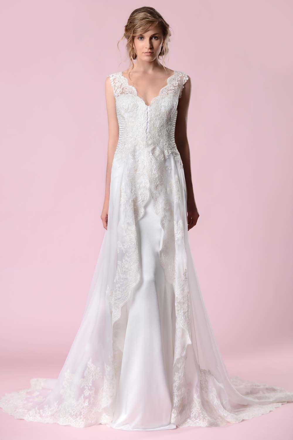 bcafc68c161 NEW ARRIVAL FROM GEMY MAALOUF! Visit Panache Bridal of New York to see it in  real life.  weddingdresses  newyorkweddings