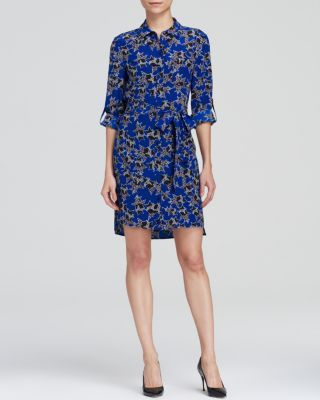 DIANE VON FURSTENBERG Prita Button Down Silk Shirt Dress. #dianevonfurstenberg #cloth #dress
