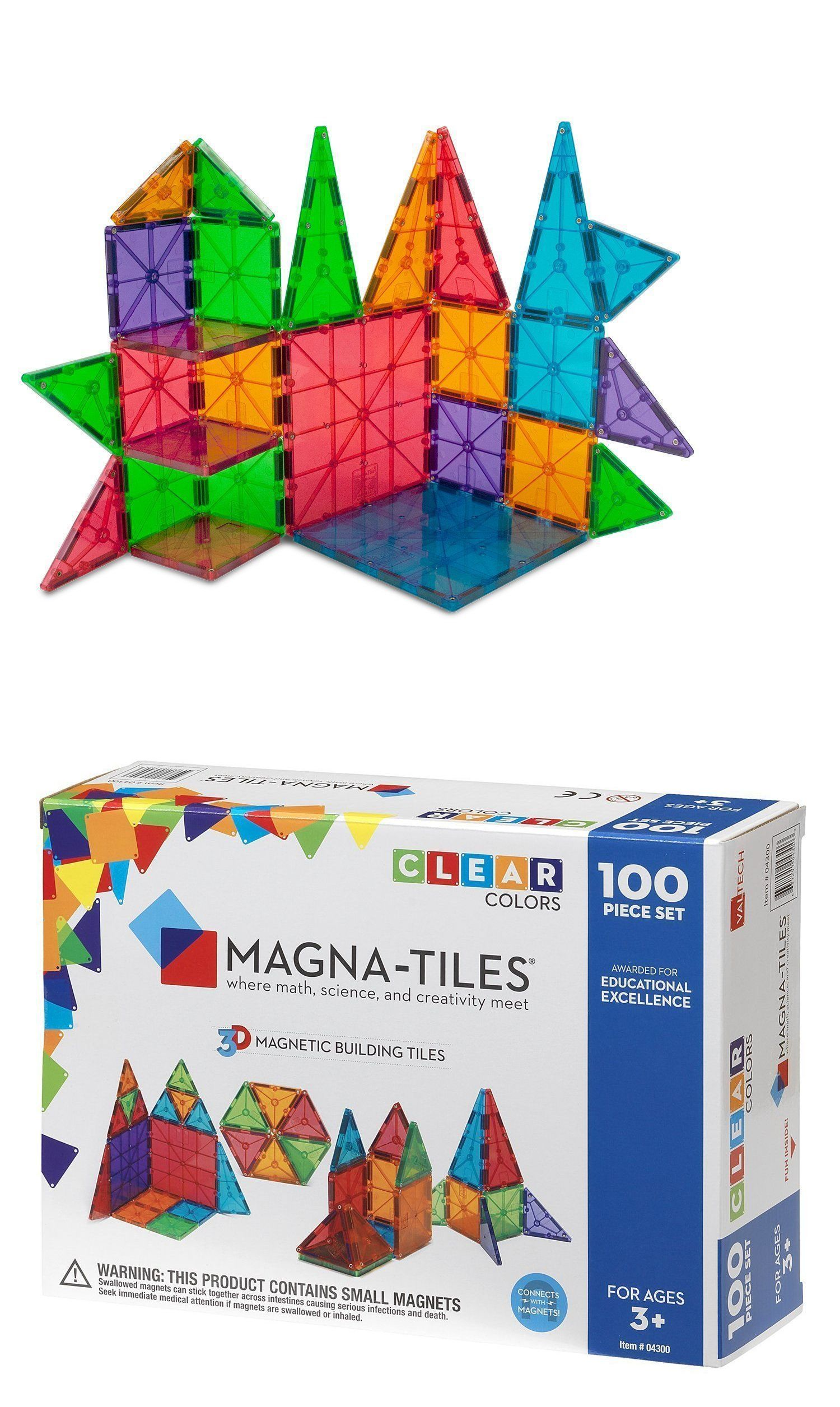 Building Toy Sets And Packs 258040 Magna Tiles 100pc Clear Color 3d Magnetic Building Tiles Valtech New In Box Magna Tiles Magnetic Building Tiles Tiles