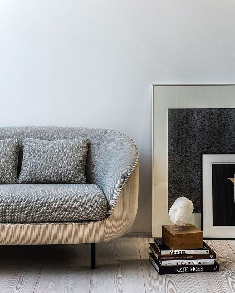 chanel and kate moss in great company with gamfratesi s haiku sofa in a calm colour palette just right for a chilled afternoon at home