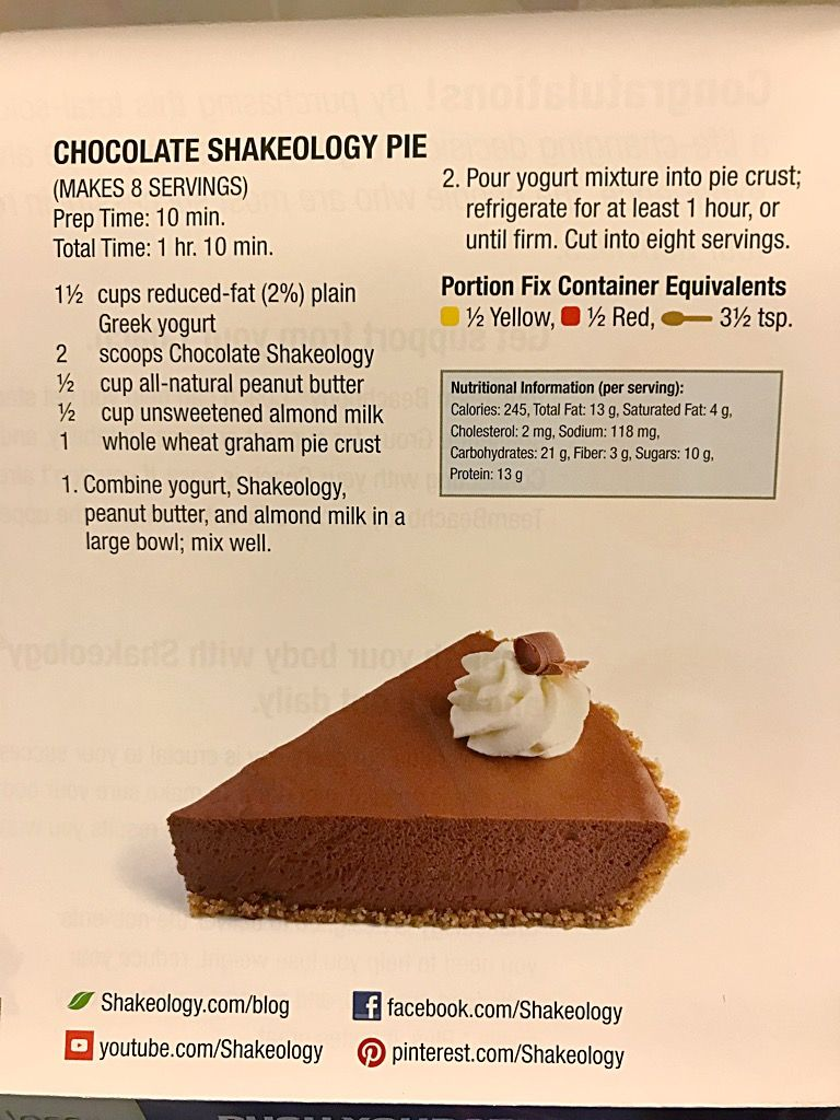 Chocolate shakeology pie | Chocolate shakeology, Cooking ...