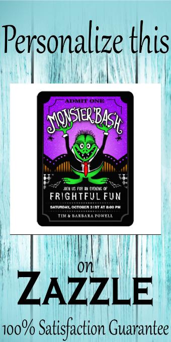 Monster Bash Fun Halloween Party Invitation |  Monster Bash Fun Halloween Party Invitation
