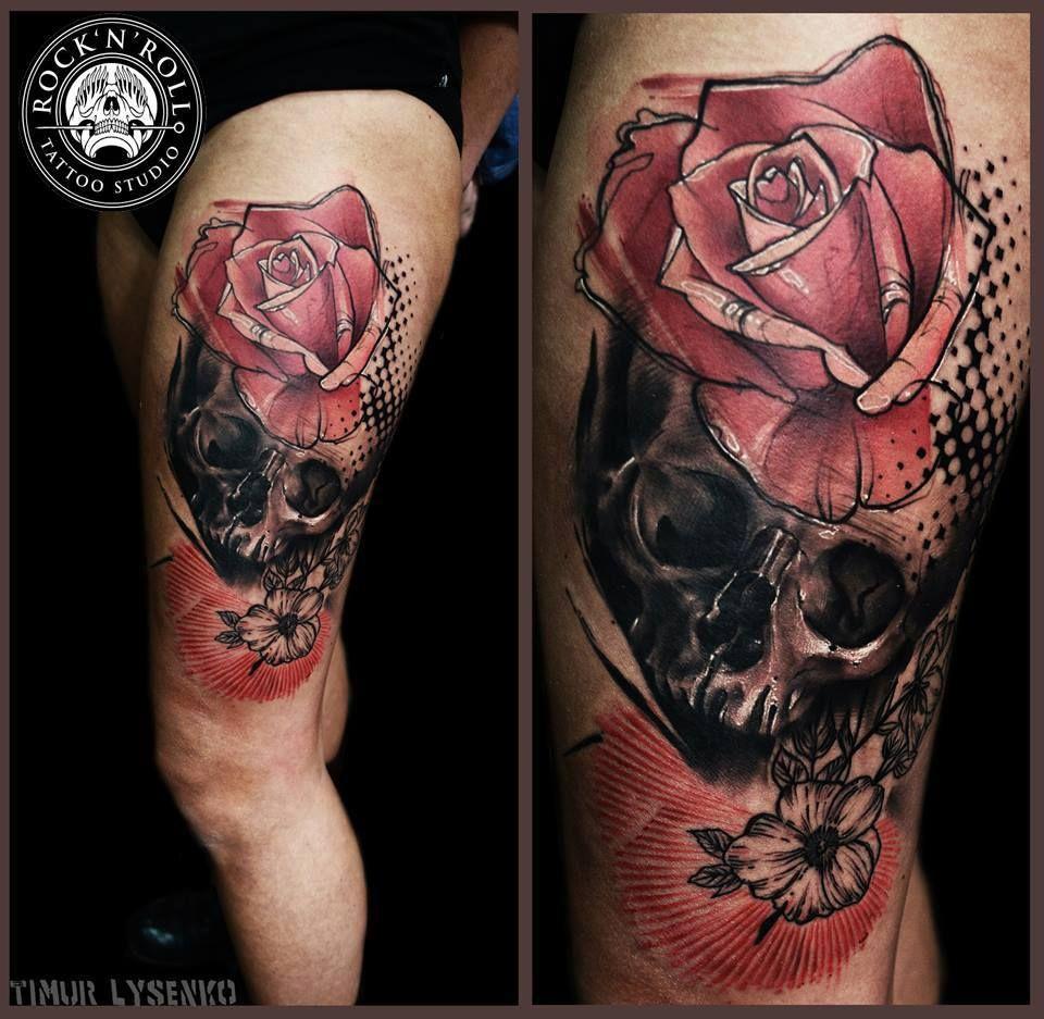 Skull tattoos by Timur Lysenko #tattoo