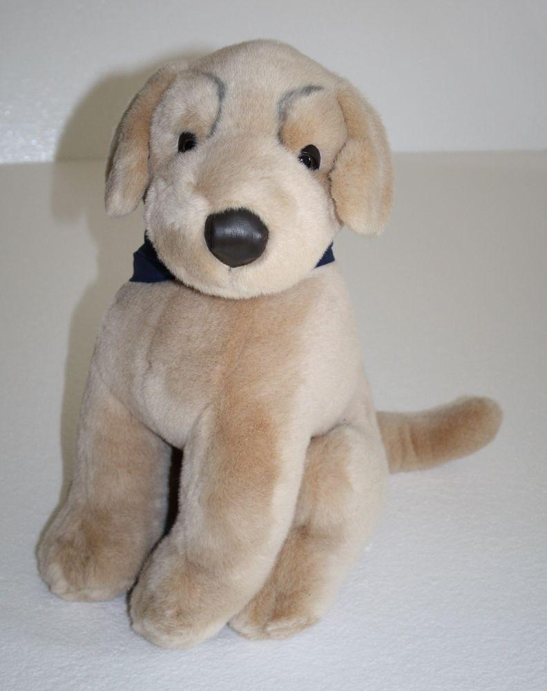 Golden Retriever Dog Tan Black Vinyl Nose Big Sits 17 Guild Dog For Blind Plush Plush Dog Teddy Bear Dog Houses [ 1000 x 792 Pixel ]