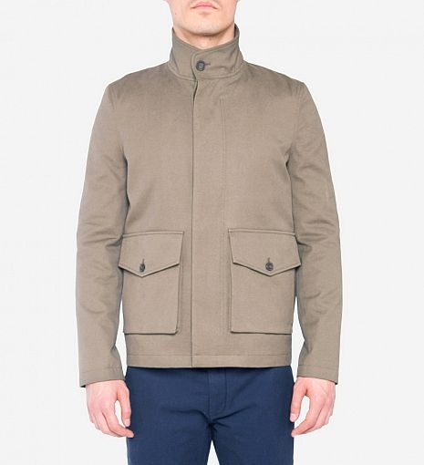 Lyle By amp; Jacket 450 New Lined Military Scott Shearling ZwSqBUfgX
