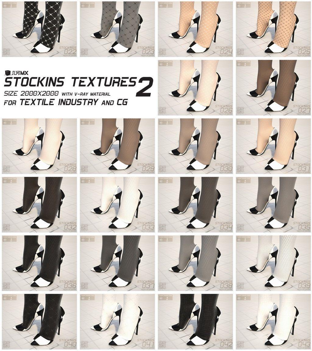 MX0035 - Stockings Texture Bundle 2 by zealkane.deviantart.com on @DeviantArt