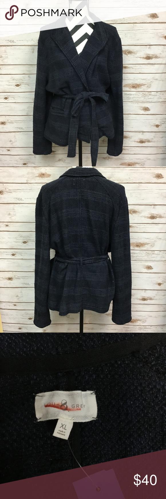 Lou Gray Tie Waist Jacket Size Xl Lou Grey Clothes Design Kimono Fashion [ 1740 x 580 Pixel ]