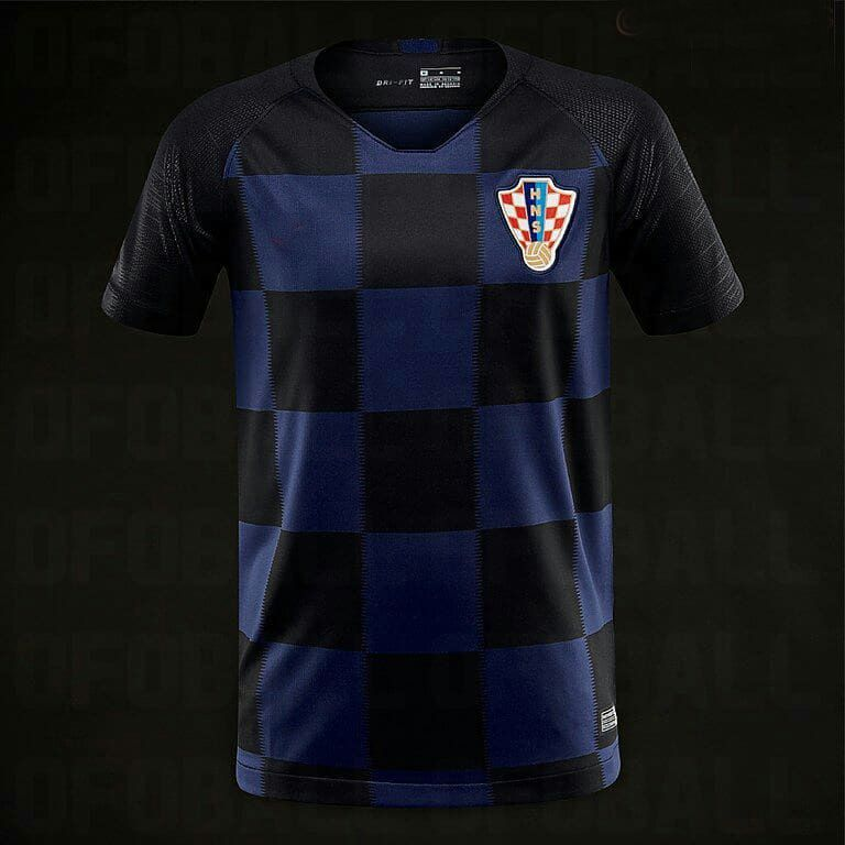 54f2848987f 2018 Croatia World Cup Away Jersey