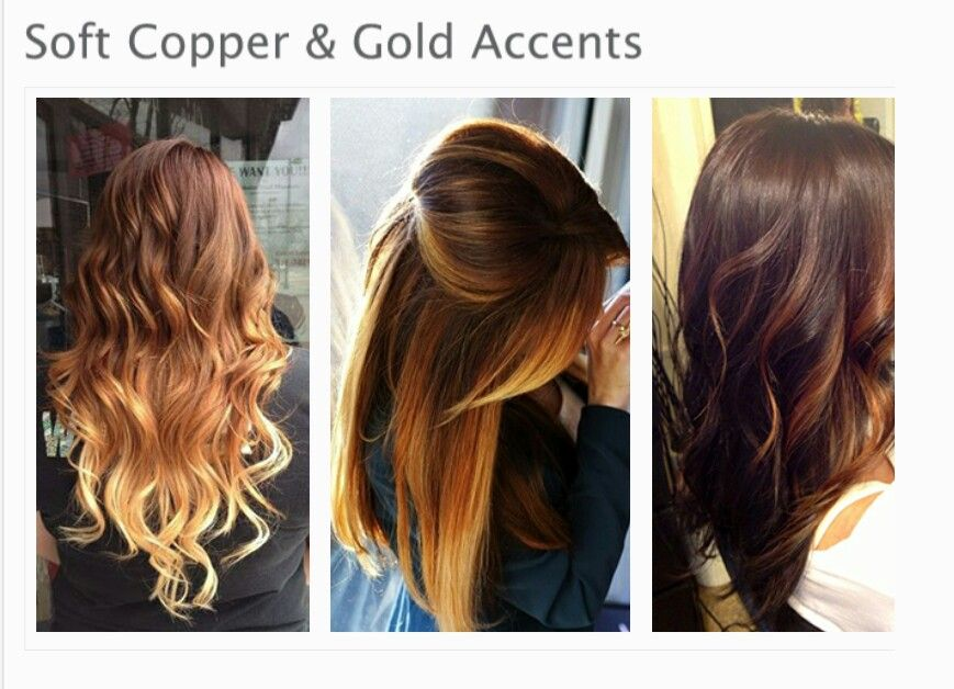 Copper & gold Hair color trends, Hair due, Long hair styles