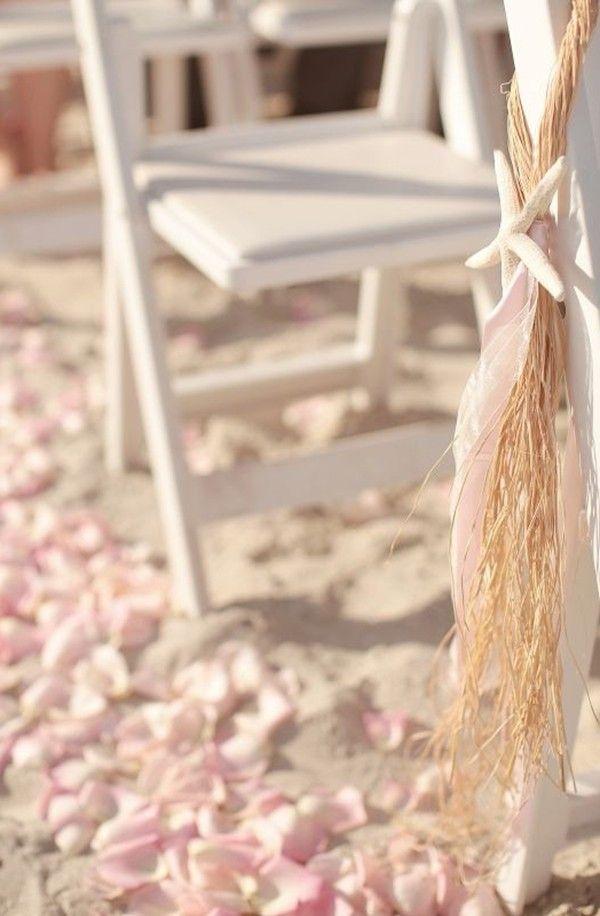Beach Wedding Starfish Chair Decorations Beach Wedding Starfish
