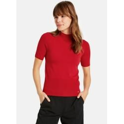 Photo of Short-sleeved pullover made of fine knit red TaifunTaifun