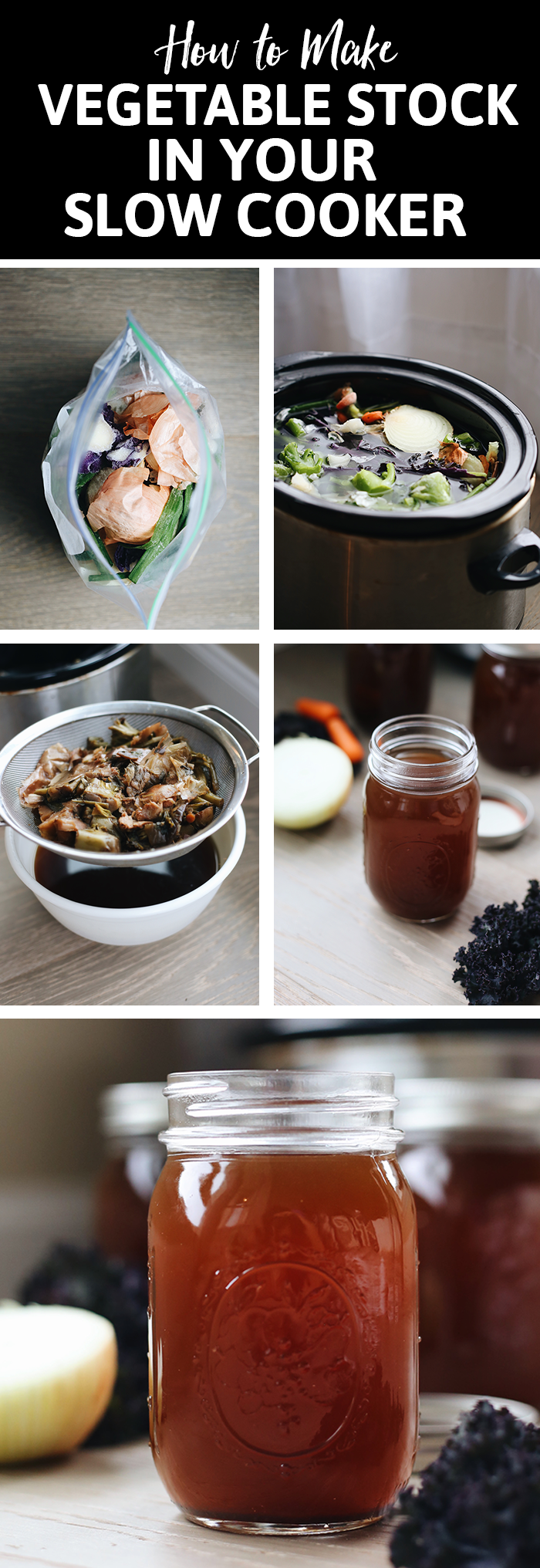 This tutorial will teach you how to make vegetable stock