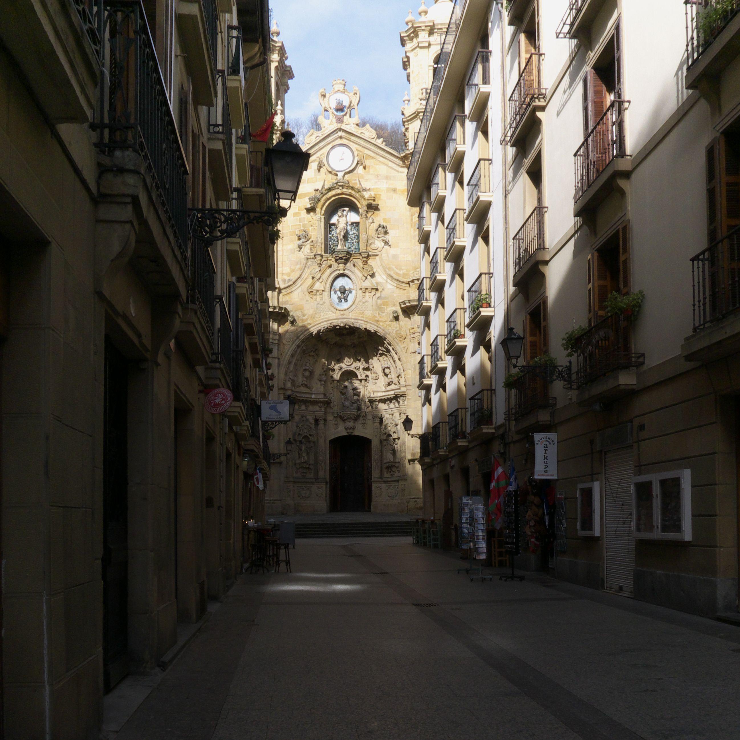 Basilica of Santa Maria del Coro in San Sebastian, Spain