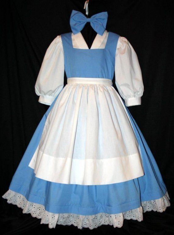 Belle Blue Provincial Costume 4 Pc Set Child Size Belle