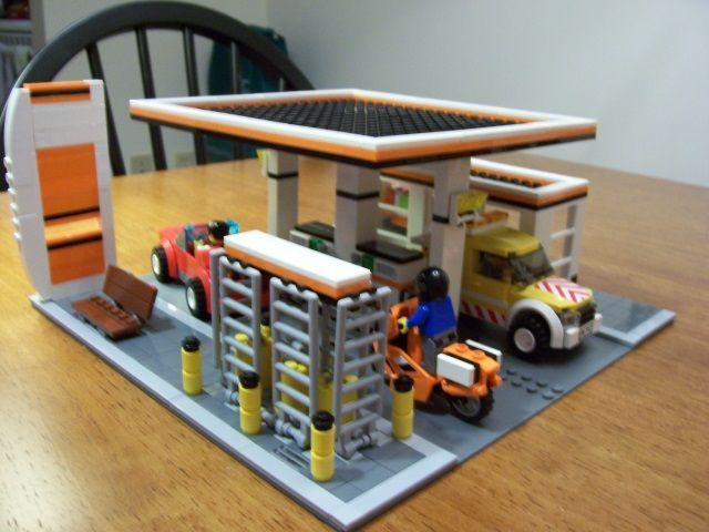 Lego Gas Station Moc Idea Lego Service Station Lego City Garage