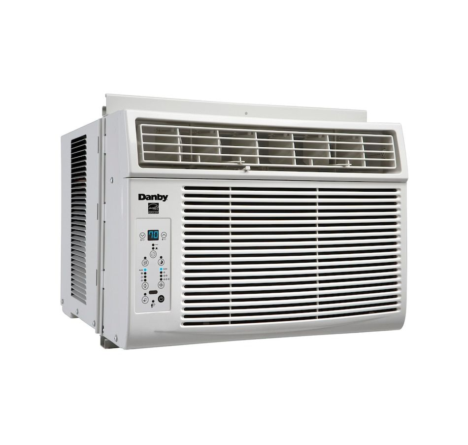 Danby 6 000 Btu Window Air Conditioner With Follow Me Function Window Air Conditioner Air Conditioner With Heater Energy Star