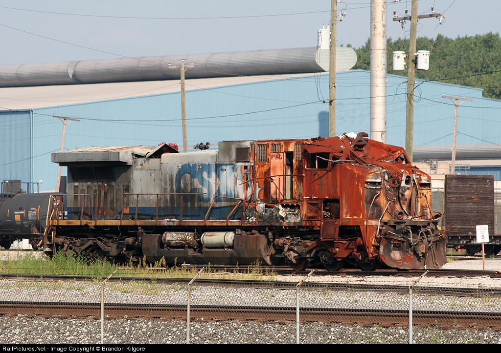 A Burned Out Csxt Unit Still Calls Barr Yard Home After Being