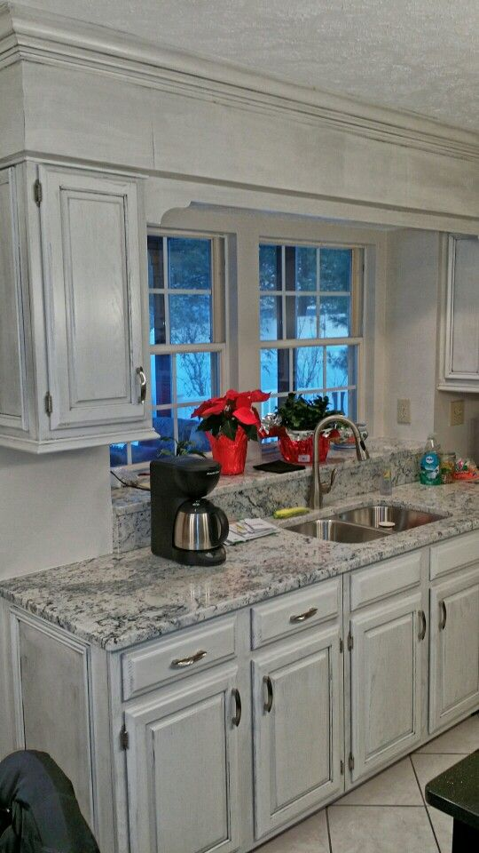 After~ painted off white with black glaze   Kitchen ...