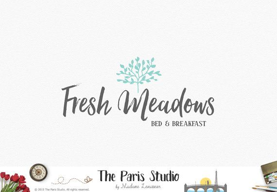 Premade Logo Design Tree Hand Drawn By TheParisStudio