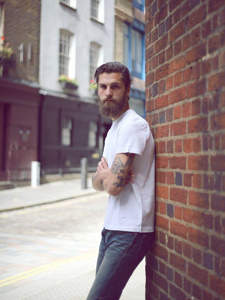 White t shirt blue jeans - White T Shirt Blue Jeans Denim Beard Hair Streetstyle Fashion Men Tumblr Grow What Your Daddy Gave Ya Pinterest Street Styles Facial Hair Styles And